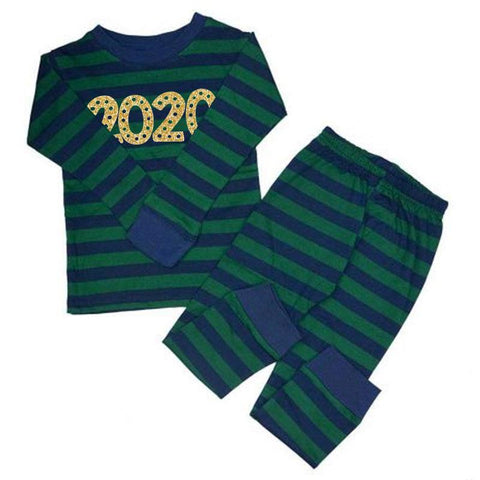 Green Navy Stripe 2020 Pajamas