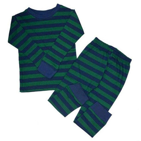 Green Navy Stripe Pajamas