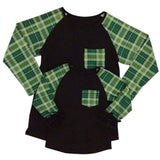 Green Plaid Black Reglan Mommy And Me Shirt