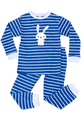 Happy Bunny Pajamas Blue Stripe