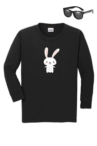 Happy Bunny Shirt Black Boy