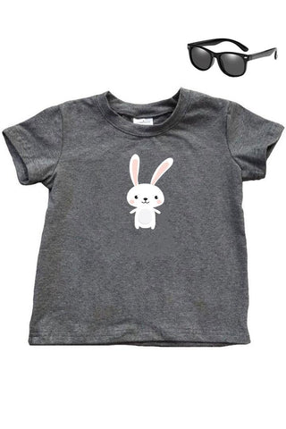 Happy Bunny Shirt Charcoal Gray Boy