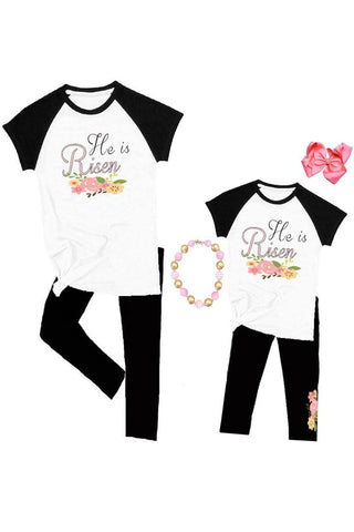 He Is Risen Raglan Shirt Floral Mommy And Me