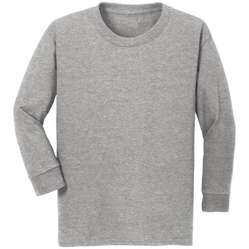 Heather Gray Shirt Long Sleeve Boy