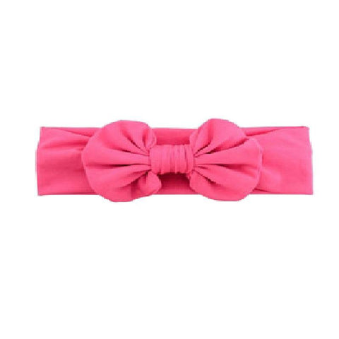 Hot Pink Ruffle Bow Headband
