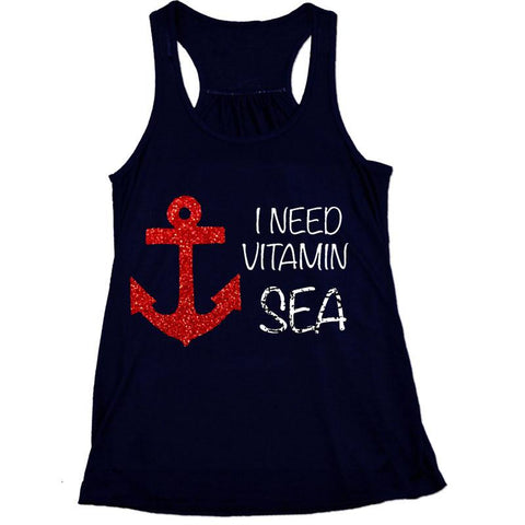 I Need Vitamin Sea Red Anchor Tank Top