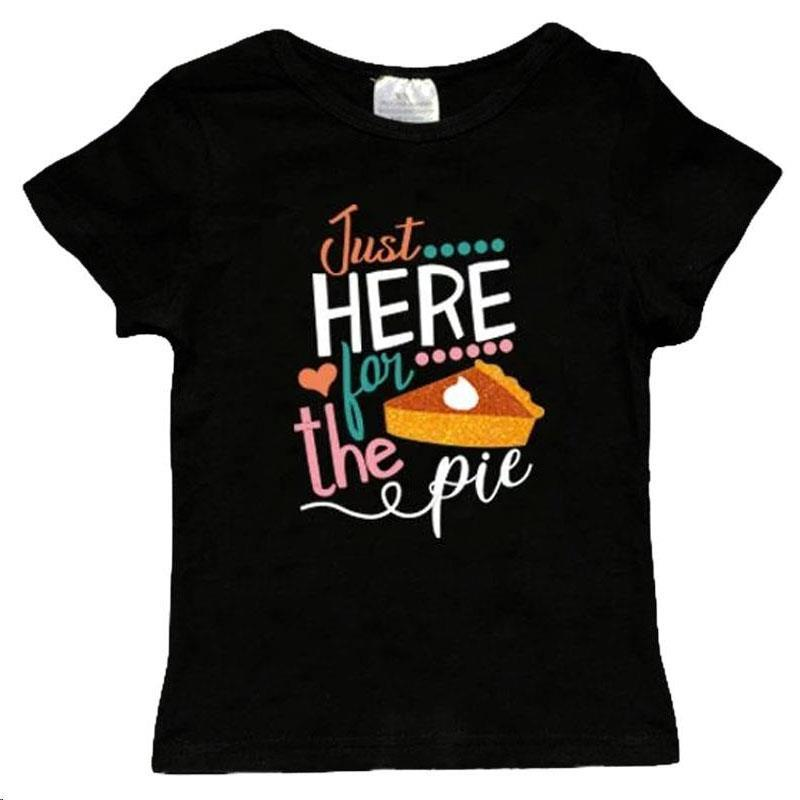 Just Here For The Pie Shirt Black Mommy And Me
