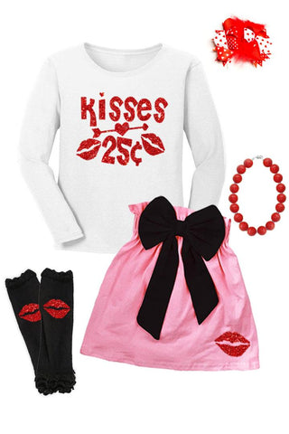 Kisses 25 Cents Outfit Sparkle Top And Skirt