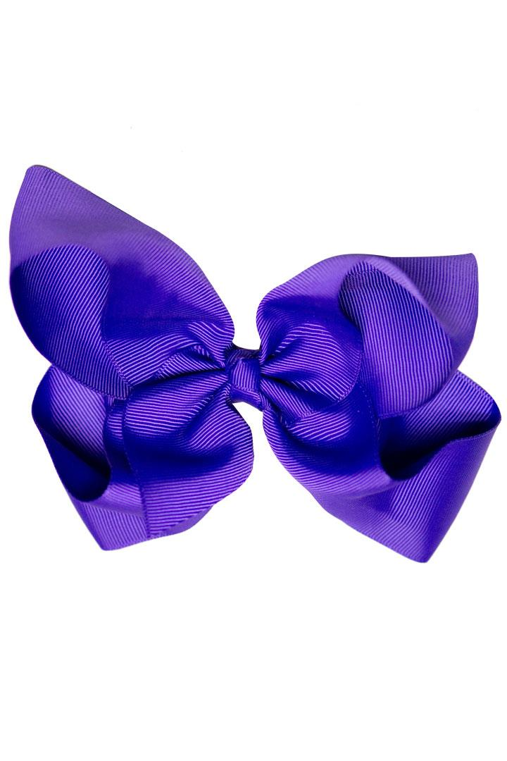 Knot Hair Bow Grape Purple