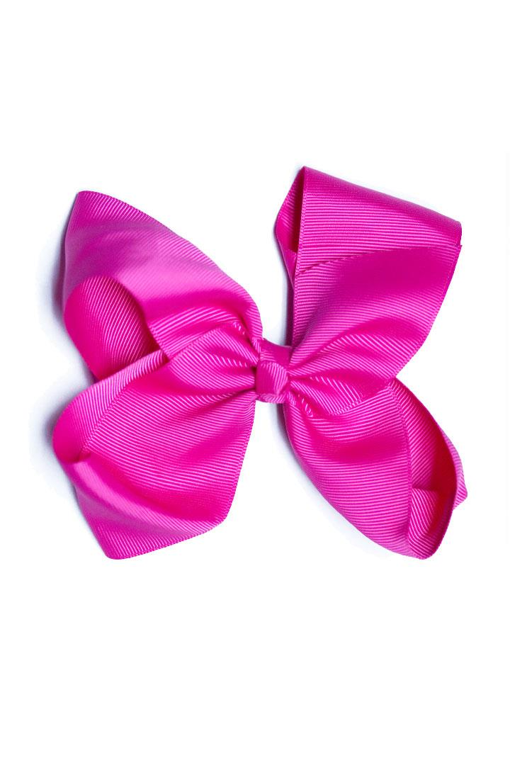 Knot Hair Bow Hot Pink