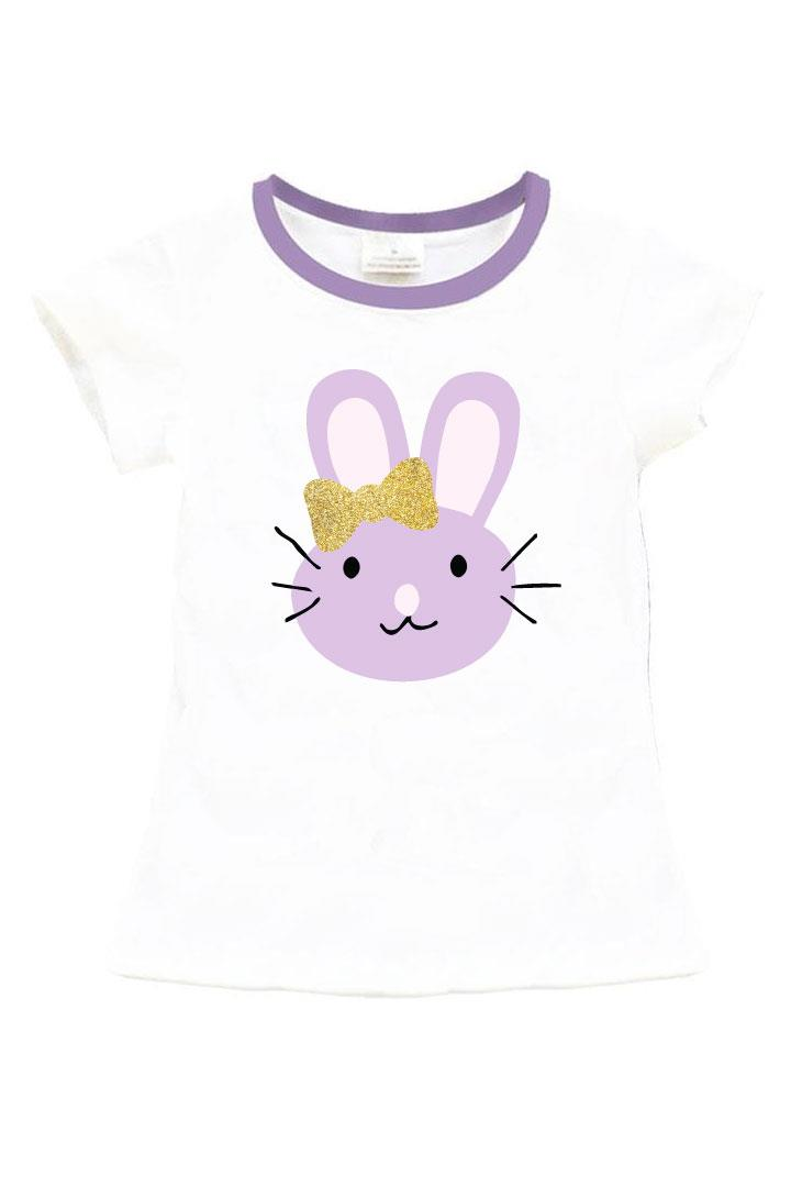 Lavender Bunny Whiskers Shirt Gold Purple Mommy And Me