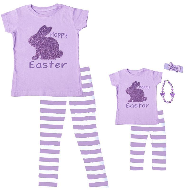 Lavender Hoppy Easter Shirt Bunny Purple Sparkle