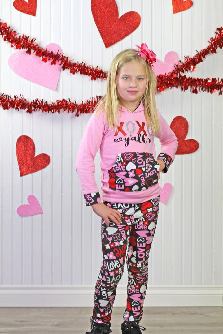 Love Hearts XOXO Yall Hoodie And Leggings
