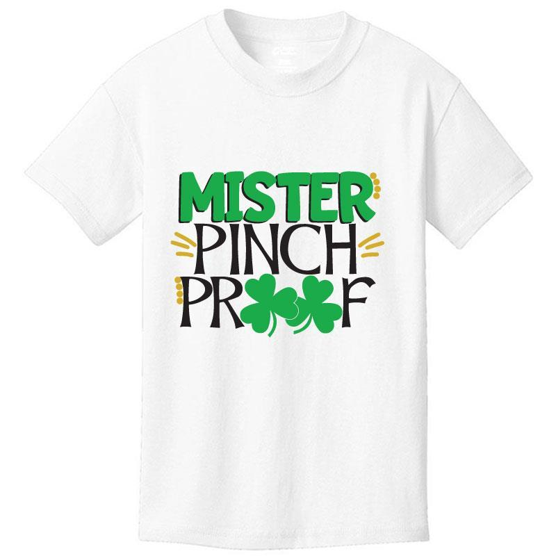 Mister Pinch Proof Shirt White Short Sleeve Boy