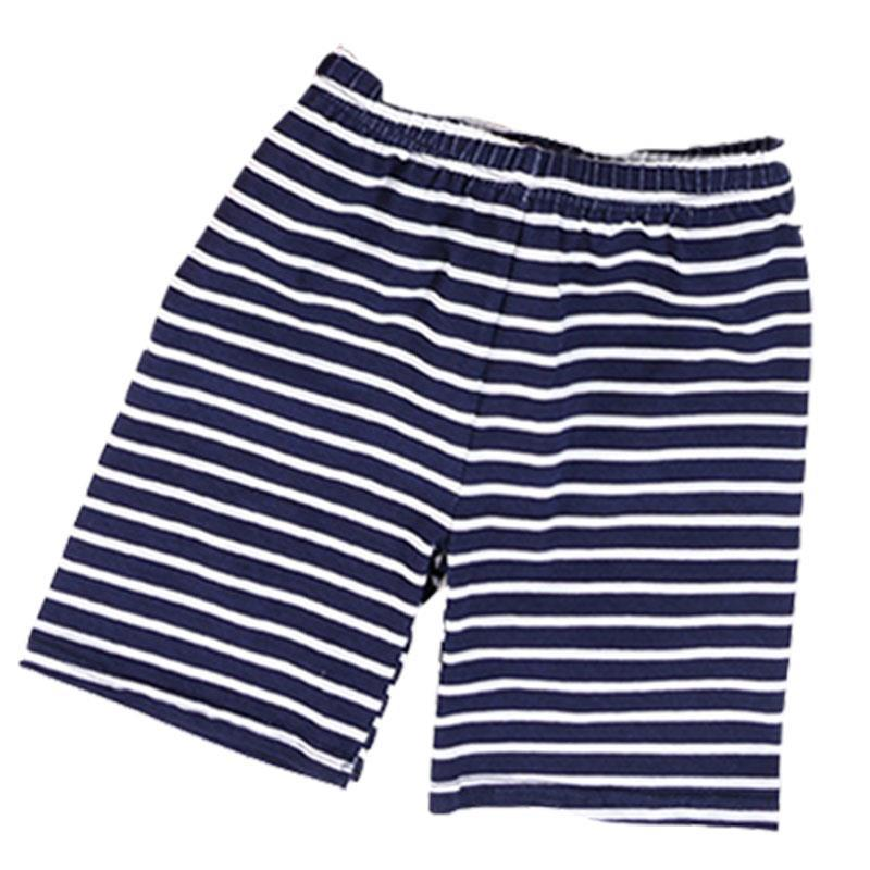 Navy Blue Stripe Shorts