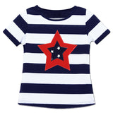Navy Stripe Red Blue Star Shirt