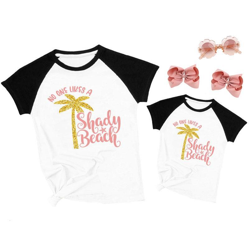 No One Likes A Shady Beach Shirt Black Raglan Mommy And Me