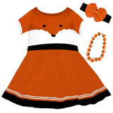 Orange Black Fox Dress