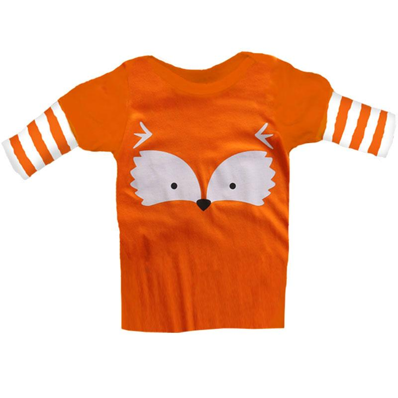 Orange Stripe Fox Face Shirt