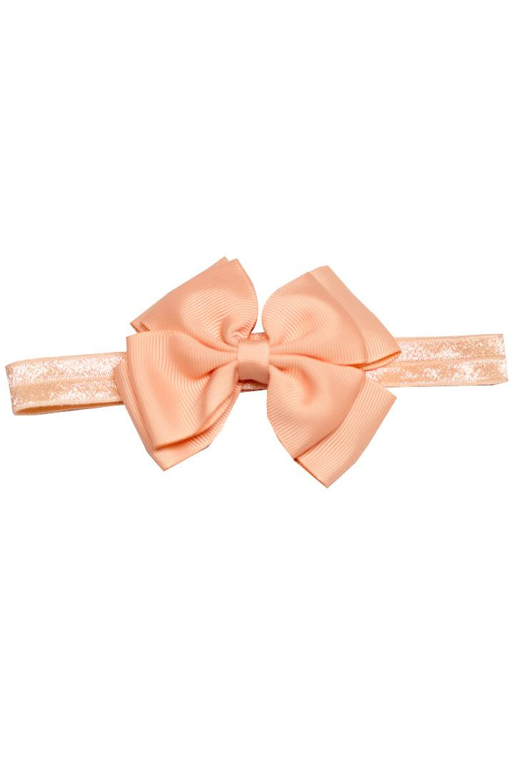 Peach Double Bow Headband