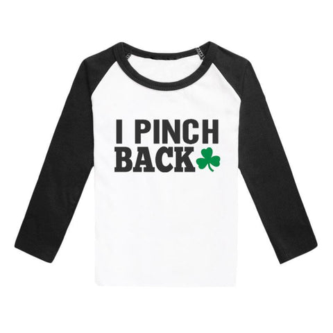 Pinch Back Shirt Green Black Raglan Adult