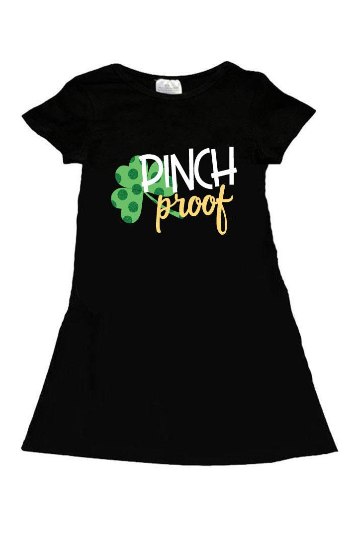 Pinch Proof Dress Black Shamrock Gold