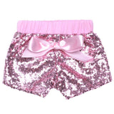 Pink Sequin Shorts Bow