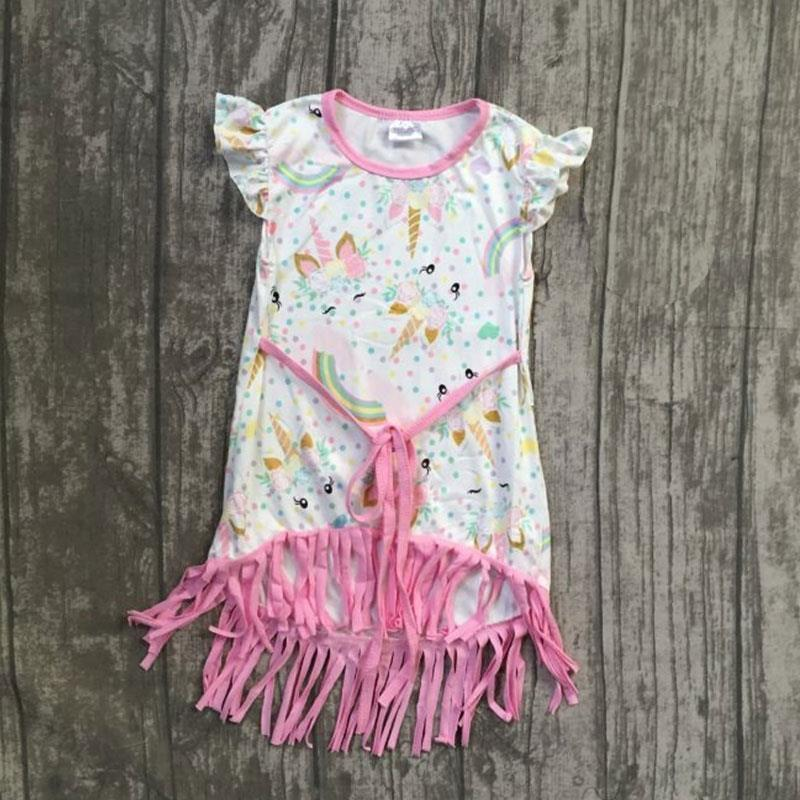 Pink Unicorn Fringe Dress