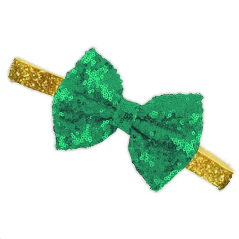 Pot Of Gold Sequin Bow Headband