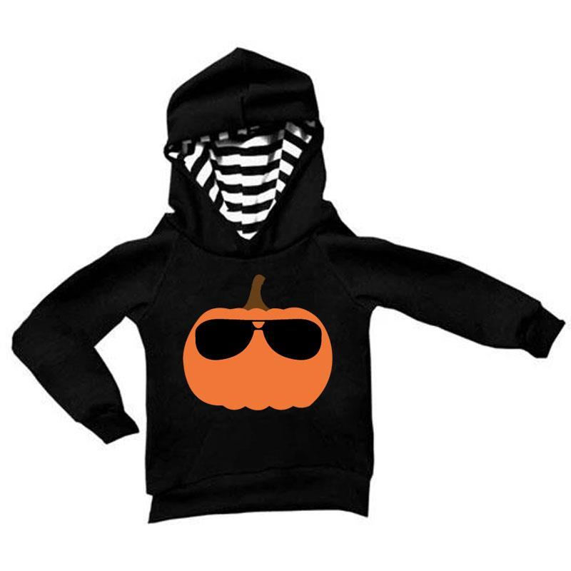 Pumpkin Glasses Stripe Hoodie Mommy And Me