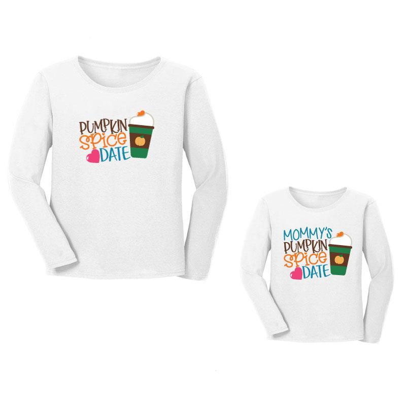 Pumpkin Spice Date Shirt Mommy And Me