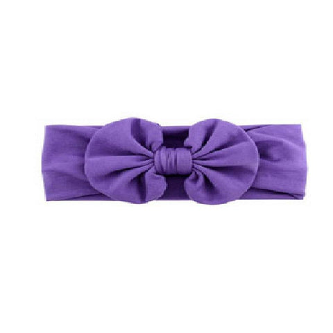 Purple Ruffle Bow Headband