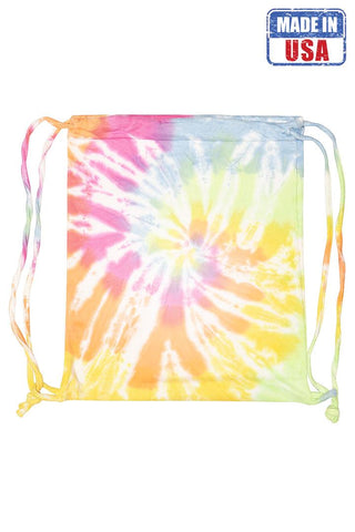 Rainbow Pastel Tie Dye Carry Bag