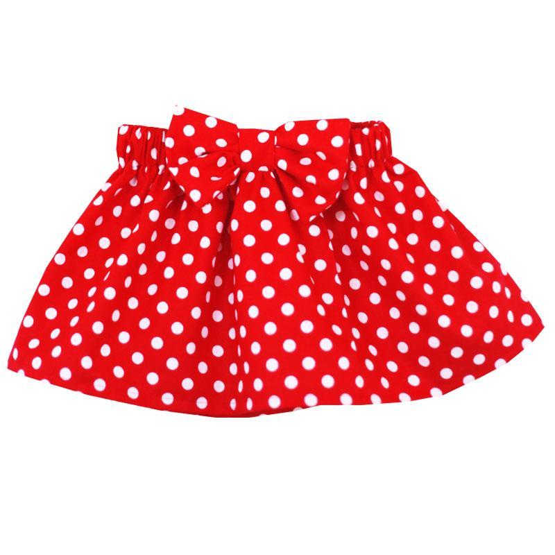 Red Polka Dot Skirt Bow