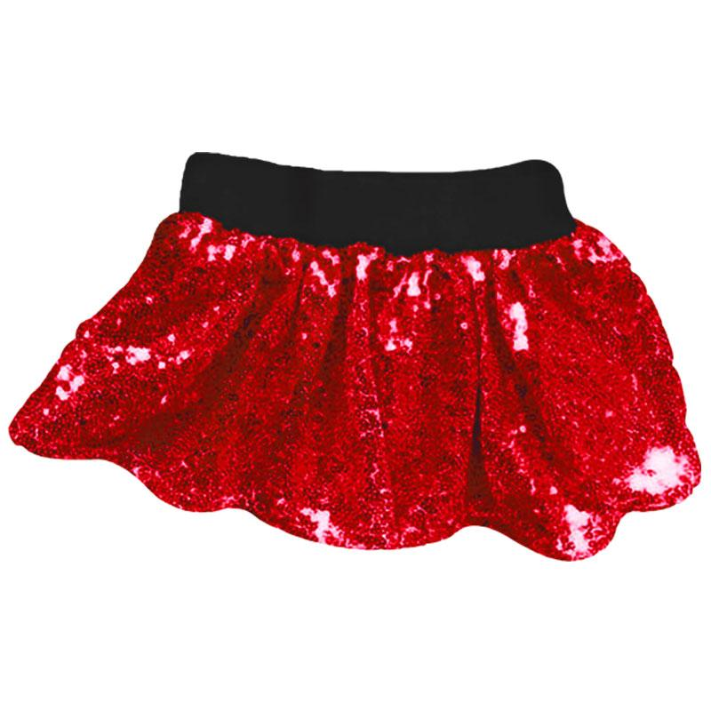 Red Sequin Skirt