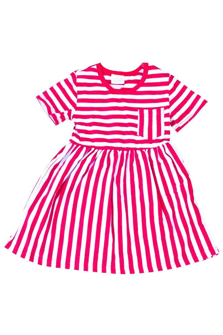 Red Stripe Pocket Dress