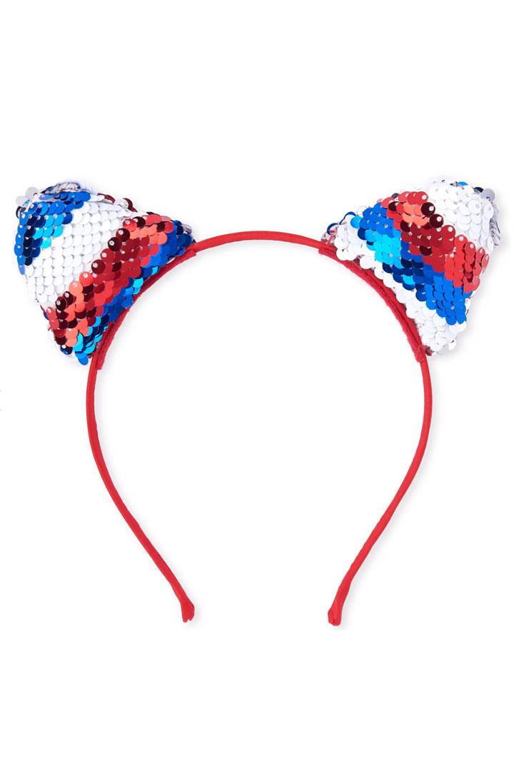 Red White Blue Flip Sequin Headband