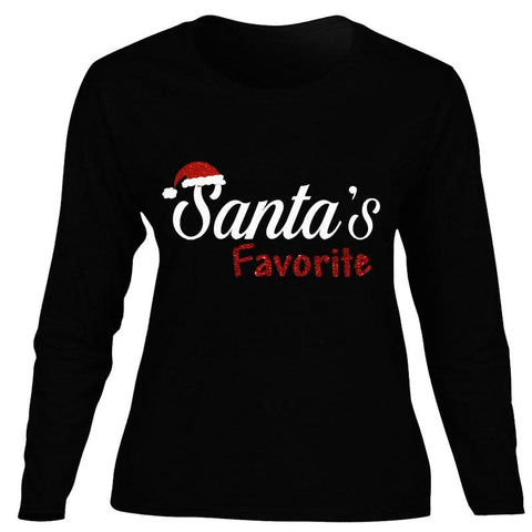 Santas Favorite Shirt Black Mommy Adult