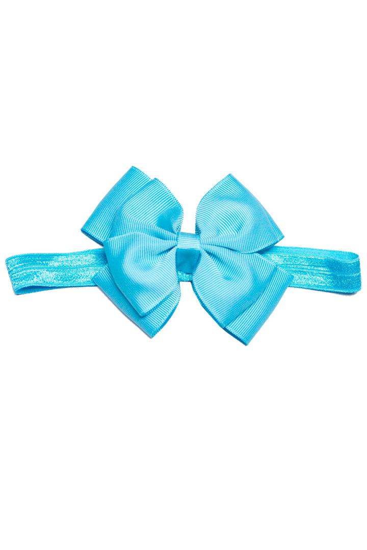 Sky Blue Double Bow Headband