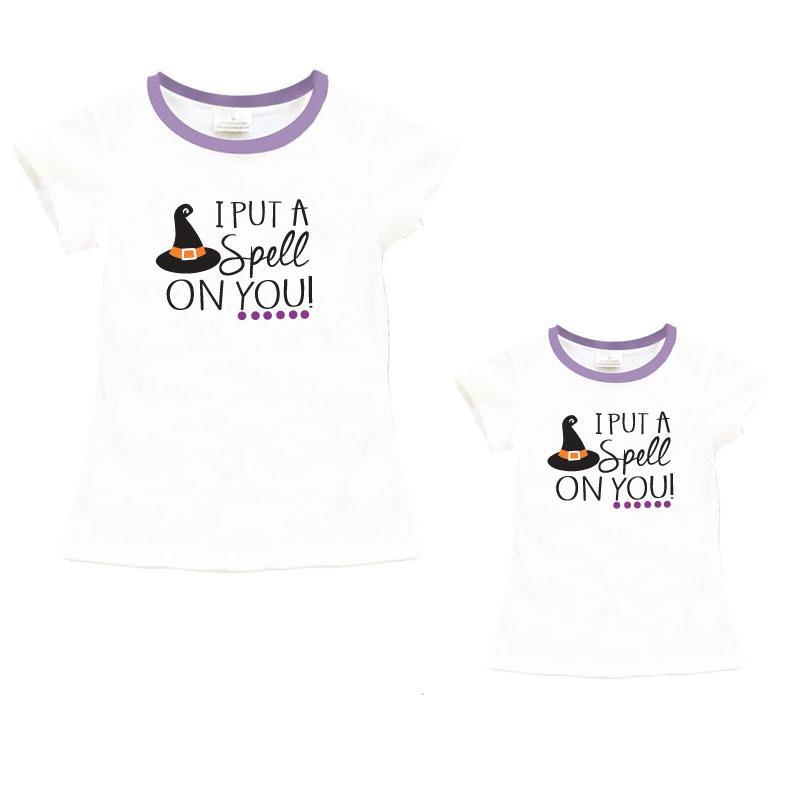 Spell On You Shirt Lavender Witch Hat Mommy And Me