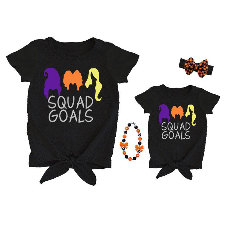 Squad Goals Halloween Shirt Mommy And Me