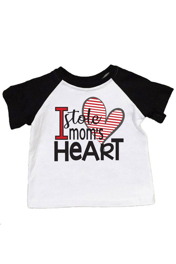 Stole Moms Heart Shirt Raglan Boy