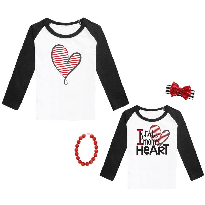Stole Moms Heart Shirt Raglan Mommy And Me