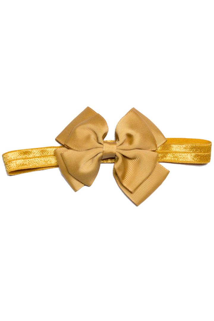 Tan Double Bow Headband