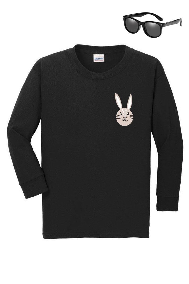 Tan Pocket Bunny Shirt Black Boy