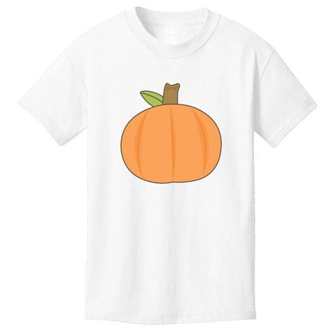 Thanksgiving Pumpkin Shirt Boy White