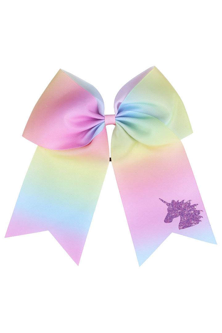Unicorn Tie Dye 8 Inch Hair Bow