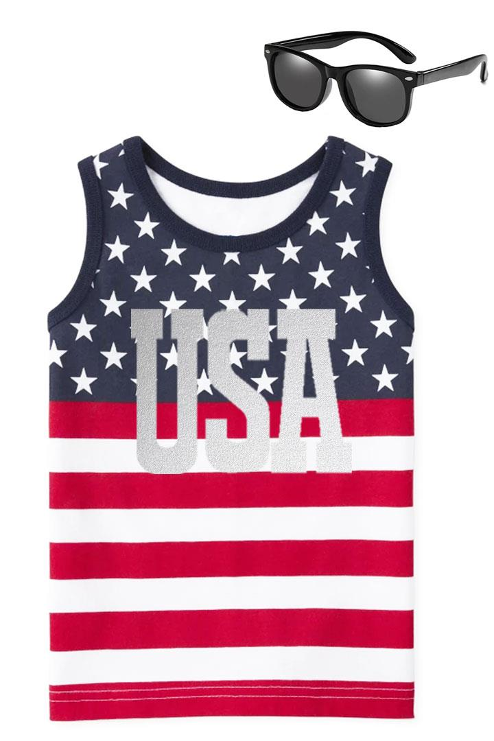 Usa Stars And Stripes Tank Top Boys