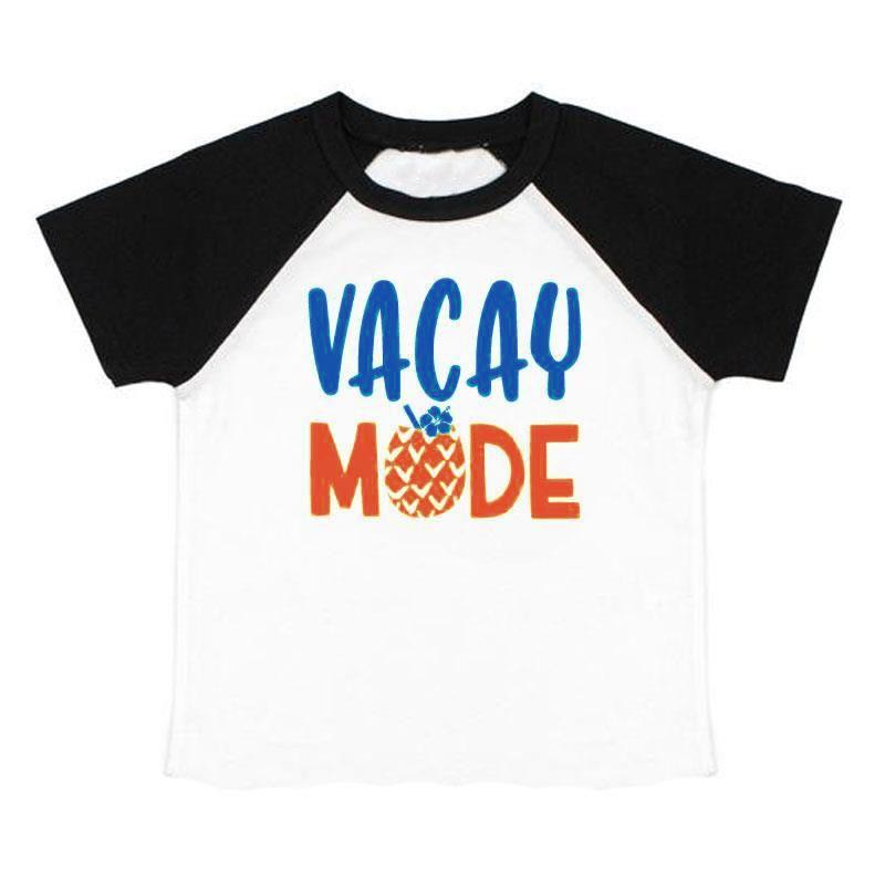 Vacay Mode Pineapple Shirt Black Raglan Daddy And Me
