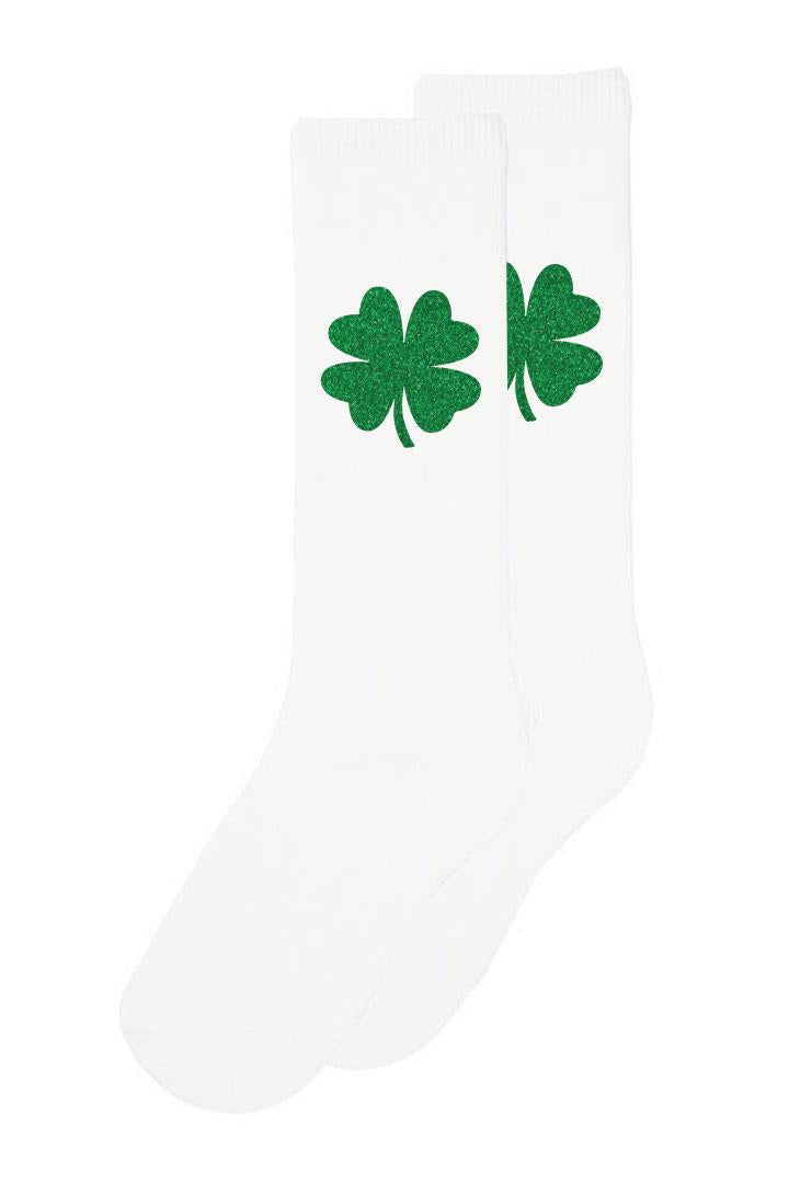 White Clover Long Socks Sparkle